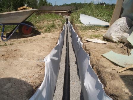 Дренажные трубы с геотекстилем