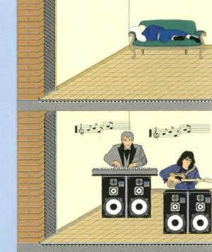 Шумоизоляция с помощью Тефонд в помещениях