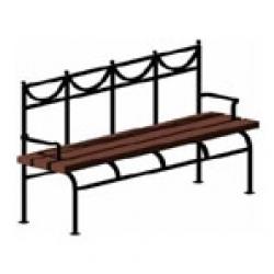 Уличная парковая скамейка (лавочка) СК-23