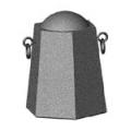 Бетонная тумба ТК-17 (575х500х700 мм)