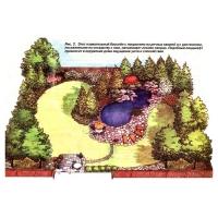 Дизайн лесного озера у дома