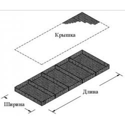 Матрасо тюфячный габион 4x2x0,23 покрытие цинк
