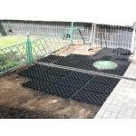 Пластиковая газонная решетка, черного цвета