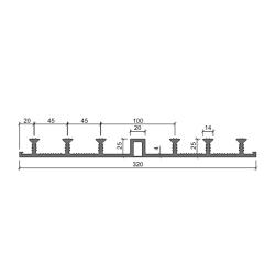 Гидрошпонка Аквастоп ДО 320-20-6-25 из ПВХ