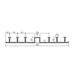 Гидрошпонка Аквастоп ДО 320-30-6-30 из ПВХ