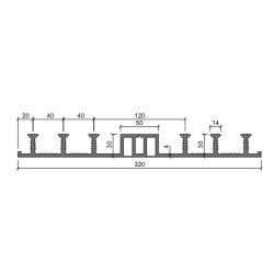 Гидрошпонка Аквастоп ДО 320-50-6-30 ПВХ