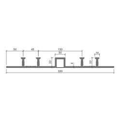 Гидрошпонка Аквастоп ДОМ -320-30-4-30