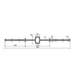 Гидрошпонка Аквастоп ДВ 320-20 из ПВХ