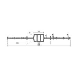 Гидрошпонка Аквастоп ДВ 320-50 из ПВХ