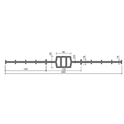 Гидрошпонка Аквастоп ДВ 400-50 из ПВХ