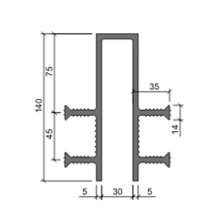 Гидрошпонка Аквастоп ДЗ 140-30-4-35 из ПВХ