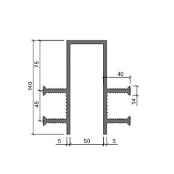 Гидрошпонка Аквастоп ДЗ 140-50-4-40 из ПВХ