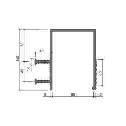 Гидрошпонка Аквастоп ДЗС-140-100-2-40 ПВХ
