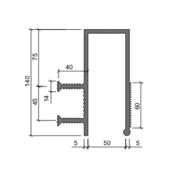 Гидрошпонка Аквастоп ДЗС 140-50-2-40 ПВХ
