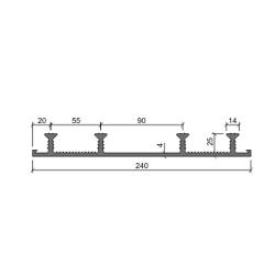Гидрошпонка Аквастоп ХО-240-4-25 ПВХ