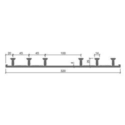 Гидрошпонка Аквастоп ХО-320-6-25 ПВХ