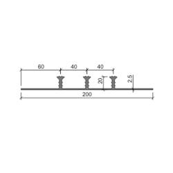 Гидрошпонка Аквастоп ХОМ-200-3-20 ПВХ