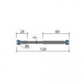 Гидрошпонка Аквастоп ХВС-120(2ДИАМЕТР6) ПВХ