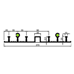 Гидрошпонка резиновая Аквастоп ДОС-270-25-4-25