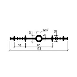 Гидрошпонка резиновая Аквастоп ДВ 170-12.5