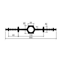 Гидрошпонка резиновая Аквастоп ДВ 220-25