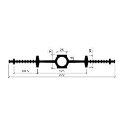 Гидрошпонка резиновая Аквастоп ДВ 270-25