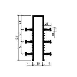 Гидрошпонка резиновая Аквастоп ДЗ 130-25-6-25