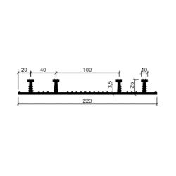 Гидрошпонка резиновая Аквастоп ХО-220-4-25