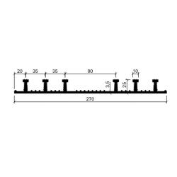 Гидрошпонка резиновая Аквастоп ХО-270-6-25