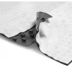 Гидроизоляционная мембрана Тефонд Дрейн (Tefond Drain) с двойным механическим замком и геотекстилем
