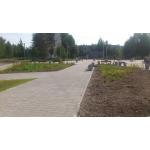 Тротуарная плитка из полимер-песчаного композита - серая (в 1м2 - 9шт)