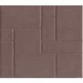 Тротуарная плитка из полимер-песчаного композита - коричневая (в 1м2 - 9шт)