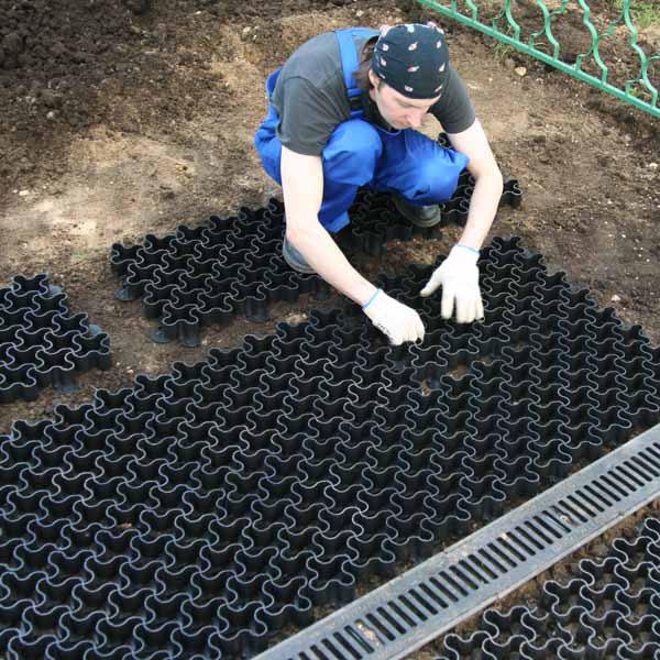 Монтаж газонной решетки