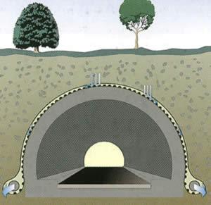 Тефонд дрейн плюс в туннелях